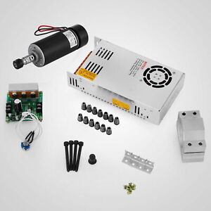 Cnc 400w Brushless Spindle Motor Er11 driver Speed Controller mount Engraving