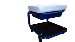 Rolling Creeper Seat Mechanic With Unique Slide Out Drawer For Cell Phone