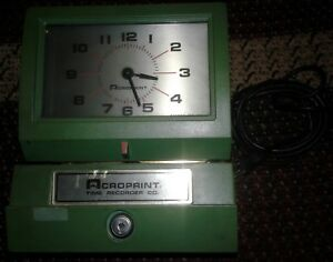 Acroprint Model 125nr Time Recorder Time Clock no Key works