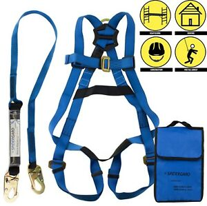 Single D ring Full Body Fall Protection Safety Harness Harness Combo spkit01