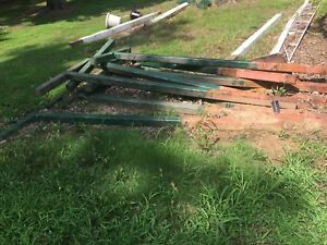 10 Steel 8 Tall T Posts Made With 4x4 Beams