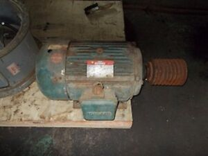 Leeson 20 Hp Motor 240 440 Volts With Pulley