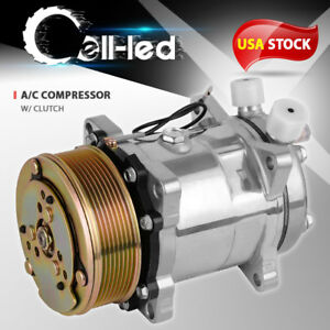 Air Conditioner A C Compressor Clutch For Sd508 Sanden Style A C Ports 8 Grooves