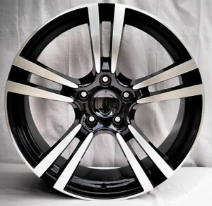20 Turbo 2 Style Black Machine Staggered Wheels Rims Fits Porsche Panamera