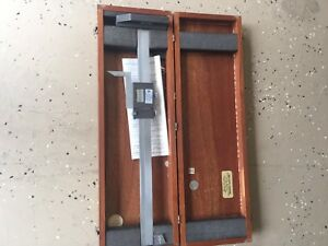 Starrett 18 Height Gage With Wood Box Used U s a