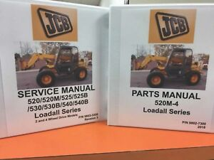 Jcb520m 4 Loadall Series Manual Set