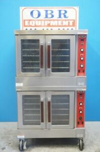 Vulcan Natural Gas Double Stack Convection Oven Great Condition Model Sg4d 1