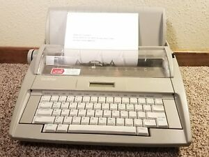 Brother Sx 4000 Electronic Portable Typewriter Tested Excellent Working