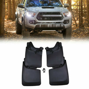 4pcs Front Rear L r Splash Mud Splash Guards Flaps Fit For 16 18 Toyota Tacoma