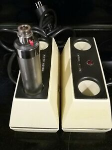 2 Welch Allyn 71110 Otoscope Battery Charger W 1 Handle
