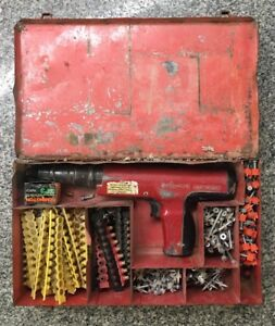Hilti Dx 350 Power Actuated Nail Gun Tool In Case A x