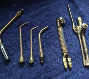 Vintage Victor Lot Of 6 Rare Gas Welding Cutting Torches Rosebuds