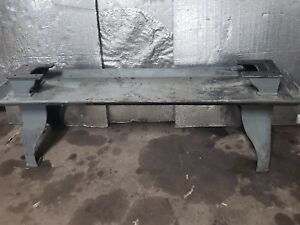 Antique Cast Iron Table Legs W Cast Tray And Risers 1917 Vintage Steampunk