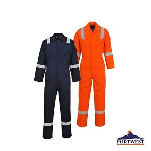 Portwest Ufr21 Bizflame Light Weight Fr Anti static Coverall Pick Size color