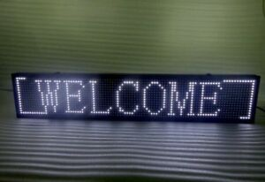 Welcome Sign Led Moving Programmable Display Board Semi outdoor 40x8in