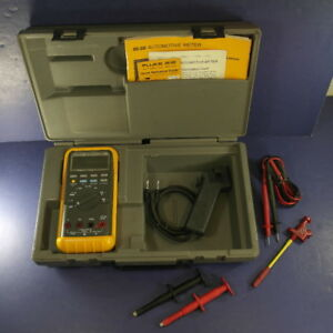 Fluke 88 Et 88 Digital Multimeter Excellent Screen Protector Hard Case