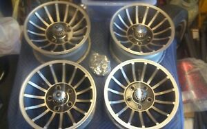 very Rare Vintage Set Of 14x7 Cragar Turbine Wheels Unilug With Cragar Lugs