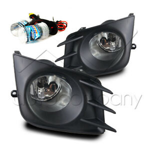 For 11 12 13 Scion Tc Fog Lights Clear With Wiring Kit Hid Kit