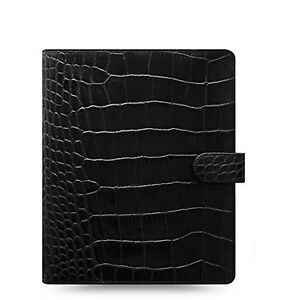 Filofax Classic Croc A5 Size Leather Organizer Agenda Ring Binder Calendar With