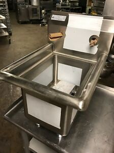 Spacesaver Nsf 1cpt Commercial Prep hand disposal Sink W Faucet