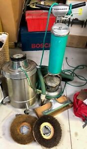1960 s Tornado Floor Polisher burnisher W Powerful Vacuum Acc Works
