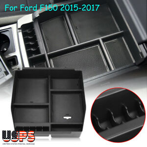 Center Console Organizer Car Tray Storage Box Fit For Ford F150 2015 2017