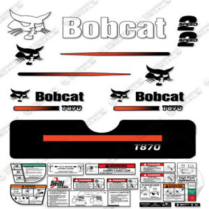 Bobcat T870 Compact Track Loader Decal Kit Skid straight Stripes