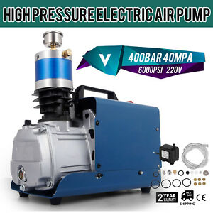 220v 40mpa Air Electric Compressor Pump 72l min High Pressure 6000psi Pcp