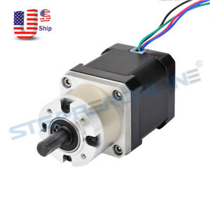 Nema 17 Geared Stepper Motor W 5 1 Planetary Gearbox High Torque Cnc 3d Printer