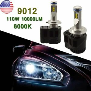 2x 55w 6000k Car Led Headlight Kit Hir2 110w P6 Led Driving Fog Drl Bulbs9012 ma