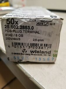 49pk Wieland 25 602 2853 0 8 way Pcb Pluggable Terminal 8142 Ob Series 300v New