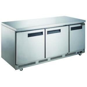Commercial Kitchen Single Door Stainless Steel Undercounter Refrigerator 72