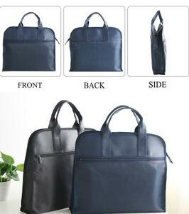 Multi Pocket Document Briefcase Fashion Business Waterproof Leather Folder Bag