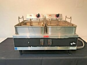 Star Max Electric Counter Top Deep Fryer Double