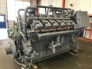 Rebuilt Zero Hour Waukesha Vhp Engine Model 7042gsi S n C 12759 1 1200 Rpm
