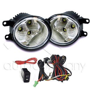 For 12 15 Toyota Tacoma Clear Led Fog Light Bumper Lamps W wiring Kit