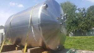 Used Walker Stainless Steel Insulated 1600 Gallon Tank food Grade