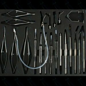Ophthalmic Cataract Eye Micro Surgery 21 Pcs Kit Surgical Instruments