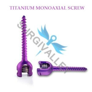 Titanium Spine System Ironlock Monoaxial Screw 6 5 Mm Set Of 21 Pieces