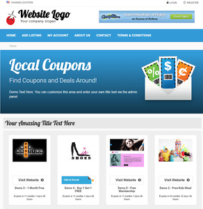 Coupons Deals Listing Directory Website For Sale Hosting Included