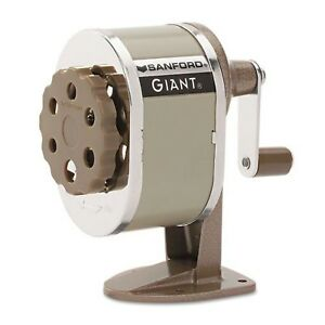 Sanford 51131cx Giant Pencil Sharpener Table Or Wall mounted Tan Six p New
