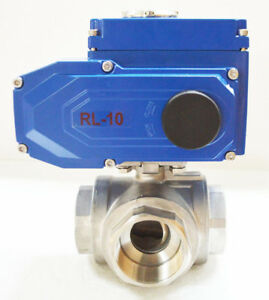 Npt 2 Electric 3 way Valve Actuated Pump Delivery Screw Thread