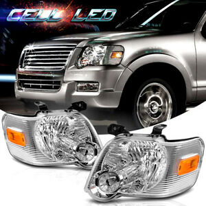 For 2006 2010 Ford Explorer Headlights Headlamps Replacement Light Left Right Us