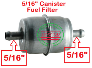 1 5 16 Universal Gas Fuel Filter Chrome Canister
