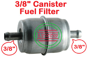1 3 8 Universal Gas Fuel Filter Chrome Canister
