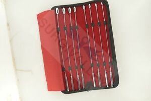 Bakes Rosebud Urethral Sounds Dilator Set Surgical Set Of 8 Stainless Steel