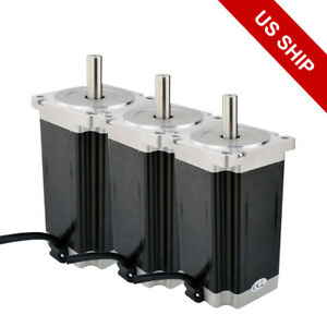 3pcs High Torque Nema 34 Stepper Motor 1841oz in 13nm 5 0a 3 Axis Cnc Kit