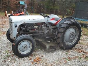Ferguson To20 Tractor With Belly Mower Runs Great