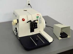 Leica Rm2155 Rotary Microtome Histology Tissue Sectioning W Foot Switch 2155
