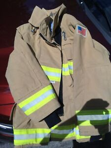 Quest Firefighter Turnout Bunker Coat 44x 31